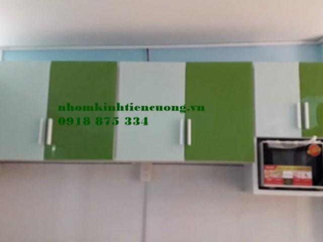 Tủ bếp nhôm kính chữ l sơn tĩnh điện ĐẸP thiết kế mẫu CẢI TIẾN