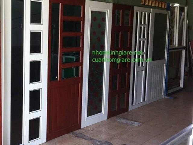 Cửa nhôm kính phòng ngủ TpHCM mẫu MỚI sản phẩm thiết kế ĐỘC ĐÁO