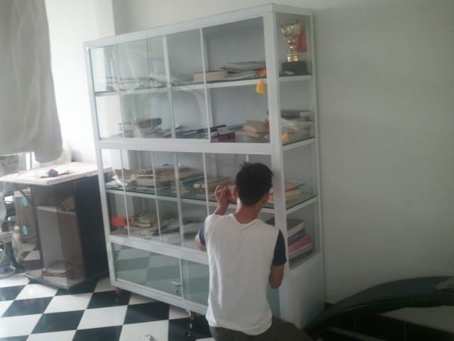 Thiết kế tủ kệ  đựng HỒ SƠ văn phòng bằng nhôm kính ĐẸP TpHCM