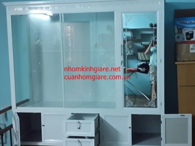 Hình ảnh tủ quần áo bằng nhôm kính alu đẹp CHẤT LƯỢNG tại TpHCM