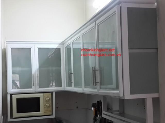 Tủ bếp nhôm kính ĐẸP TpHCM kiểu dáng thiết kế MỚI bảo đảm TỐT