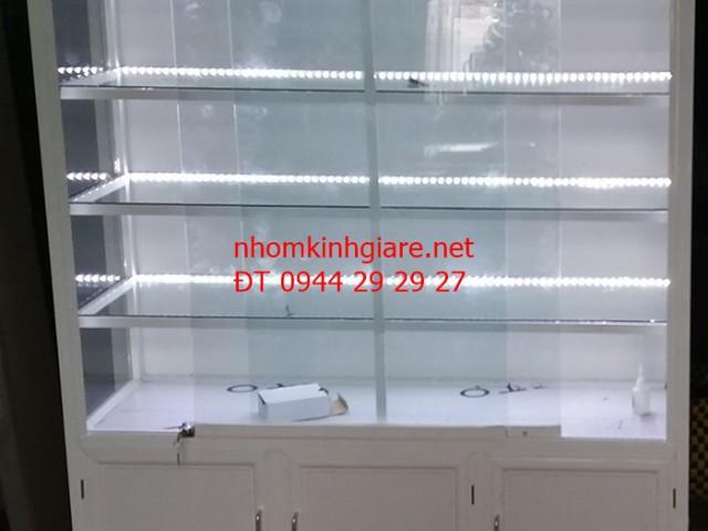 Tủ nhôm kính bán hàng TpHCM mẫu trưng bày sản phẩm ĐẸP ĐỘC ĐÁO