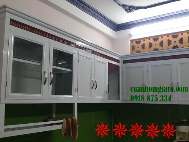Những mẫu tủ bếp nhôm kính treo tường cao cấp ĐẸP giá rẻ TpHCM