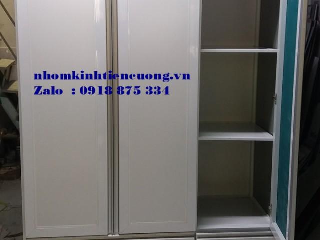 Tủ quần áo nhôm kính cao cấp TpHCM mẫu MỚI thiết kế ĐẸP
