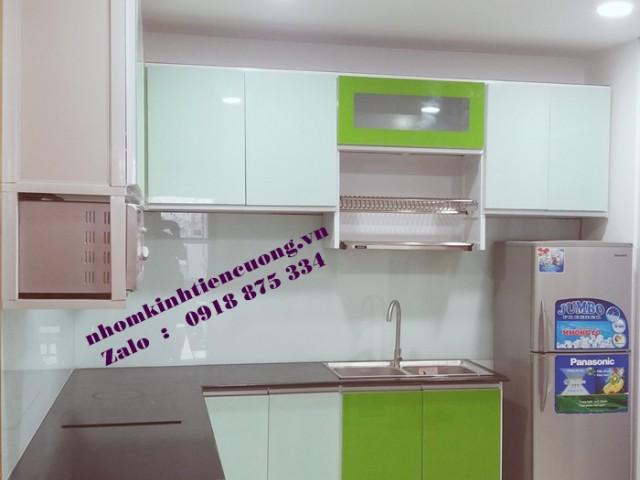 Chuyên đóng tủ bếp nhôm kính TpHCM mẫu MỚI thiết kế đẹp CHẤT LƯỢNG