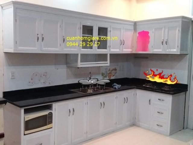Tủ bếp nhôm kính giá rẻ TpHCM những mẫu thiết kế kiểu dáng ĐẸP