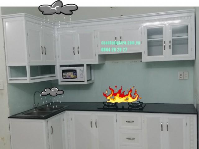 Làm tủ bếp nhôm kính ĐẸP TpHCM chuyên nghiệp bảo đảm CHẤT LƯỢNG tốt