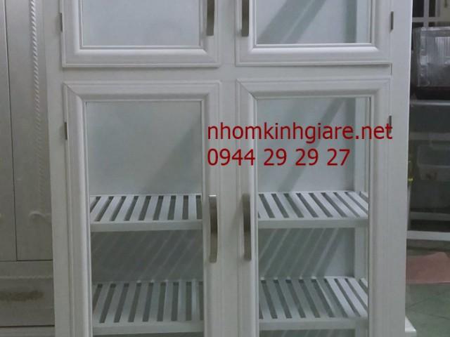 Những mẫu tủ nhôm kính đựng chén bát ĐẸP chất lượng tại TpHCM