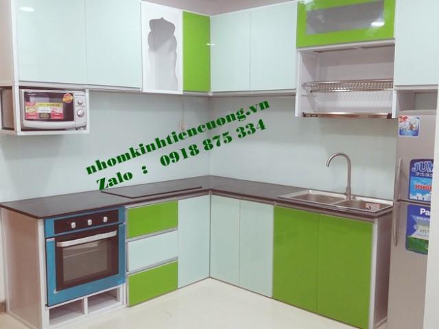 Tủ bếp nhôm kính HIỆN ĐẠI TpHCM thiết kế MỚI cải tiến ĐỘC NHẤT