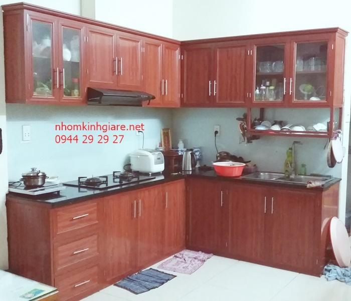 tủ bếp nhôm kính quận Bình Thạnh 1